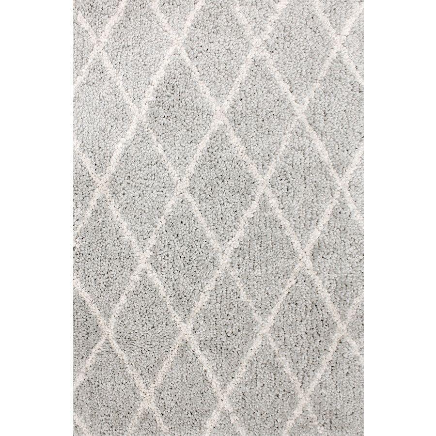 Carpet Art Deco Veneto Light Grey White Rectangular Indoor Machine