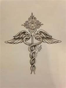 Nurses Symbol Tattoo : nurses, symbol, tattoo, Nursing, Symbol, Google, Search, Medical, Tattoo,, Caduceus, Heartagram, Tattoo