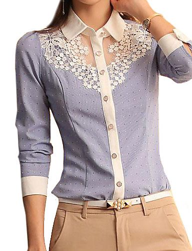 a37c16e65f Mulheres Camisa Casual Simples Primavera