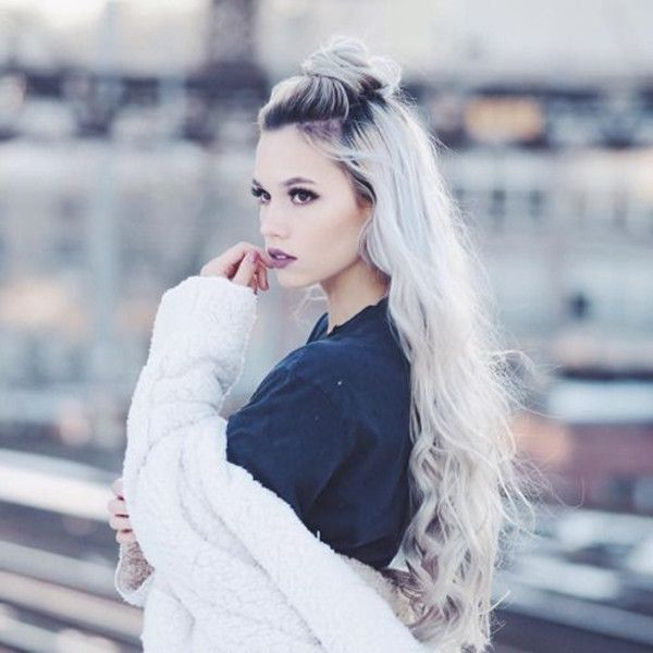 10 Ideas of Half-up Bun, Perfect Hairstyle for Back to School - | Hair styles, Braided ponytail ...