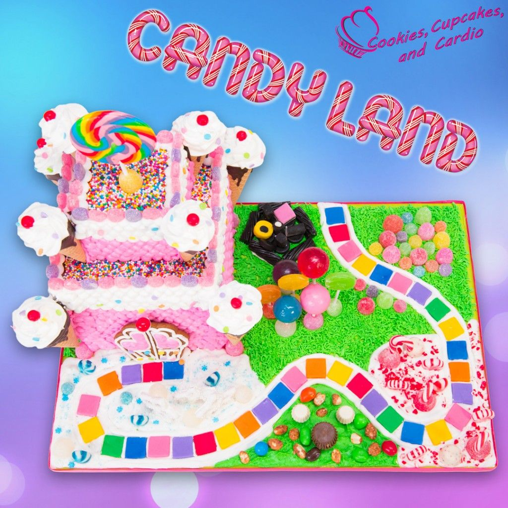 Candyland Gingerbread House Cake Candyland Birthday Candy Theme Birthday Party Candyland