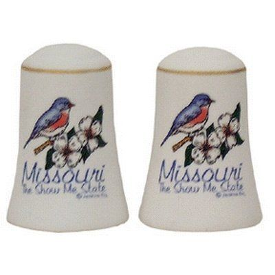 """Missouri Salt and Pepper set Set Bisque - Case Pack 48 SKU-PAS382256 by DDI. $205.40. Missouri Salt And Pepper Set. Each Piece Is 3"""" H X 2"""" W. Bisque"""