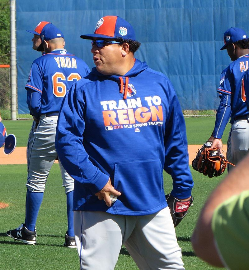 Mets pitcher Bartolo Colon at Spring training 2/25/16