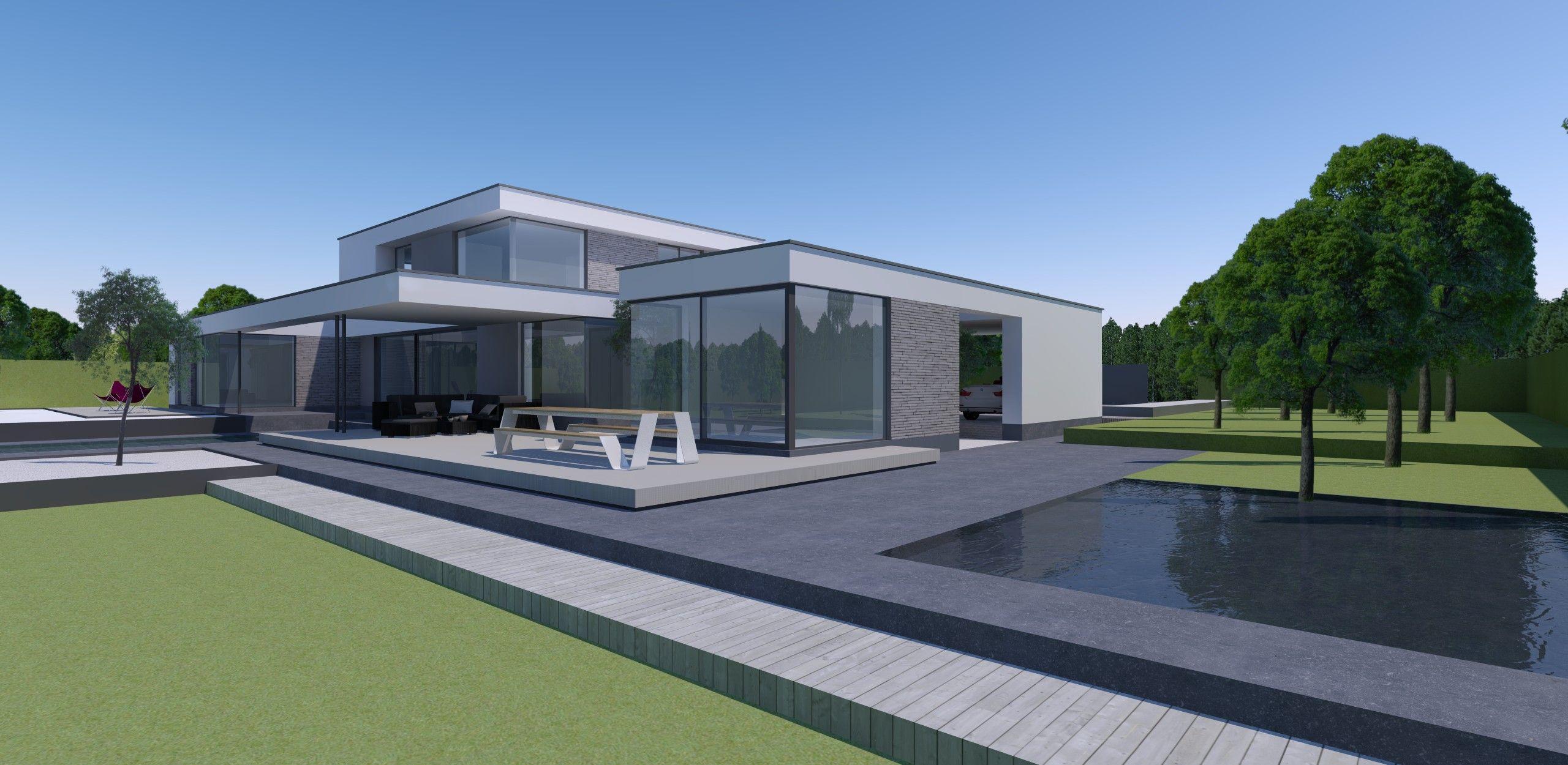 Block office architecten strakke architectuur moderne for Moderne strakke huizen