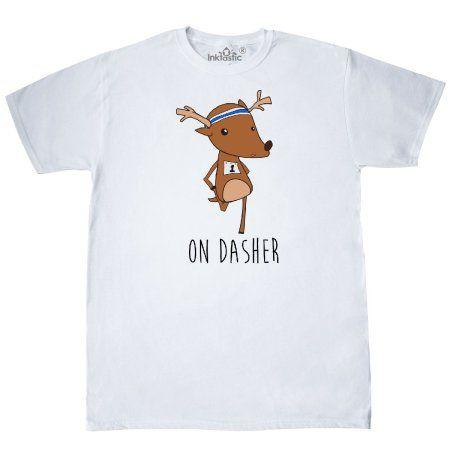 christmas run shirt   Inktastic On Dasher T-Shirt Reindeer Christmas ...