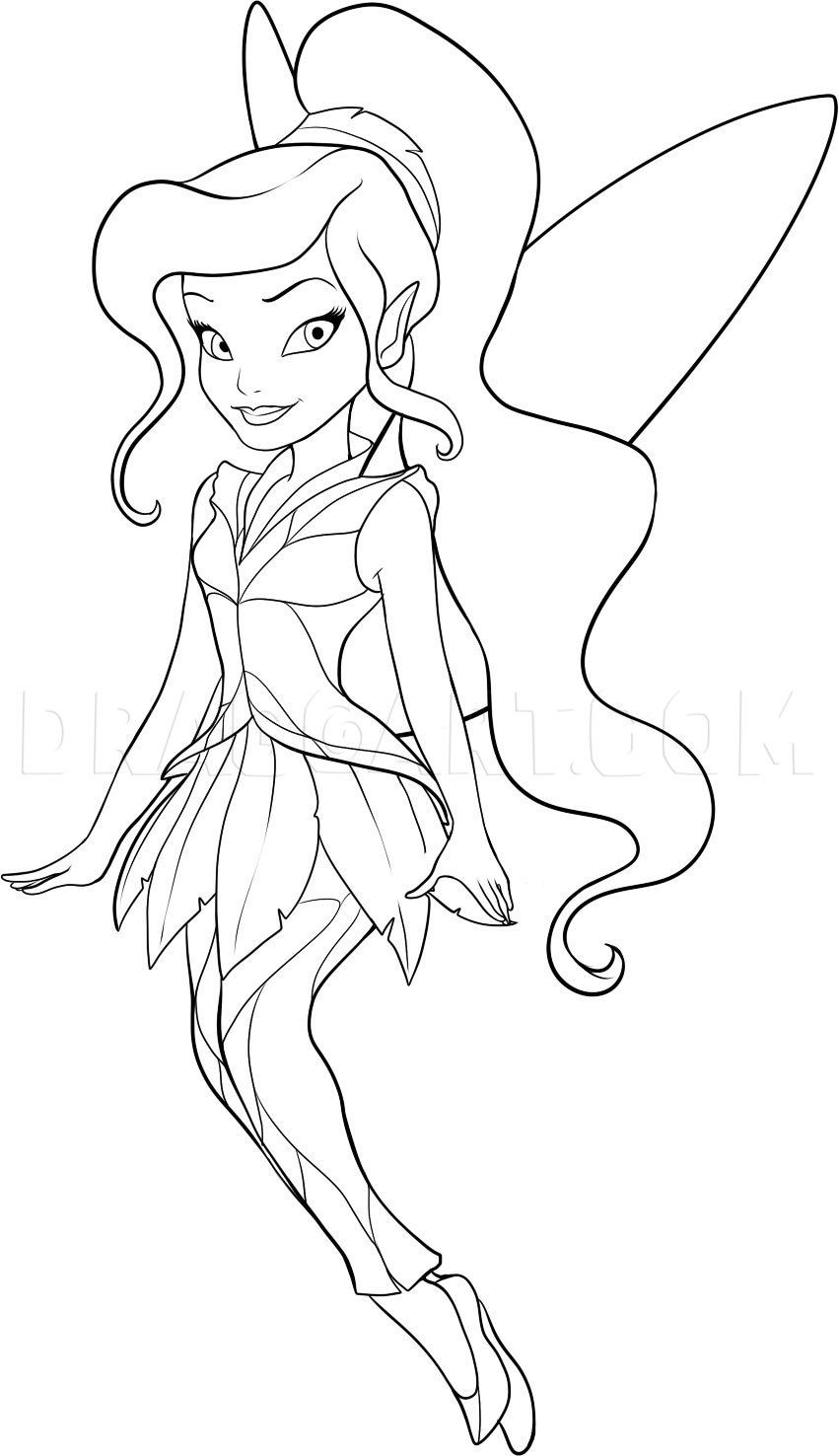 How To Draw Vidia Step By Step Drawing Guide By Dawn Dragoart Com Tinkerbell Coloring Pages Fairy Coloring Pages Fairy Coloring [ jpg ]