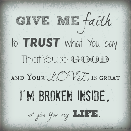 Christian song give me faith