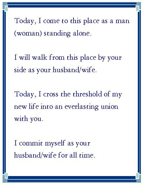 Sample wedding vows for Wedding Vows Wednesday 4\/16\/14 If My - marriage proposal template