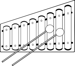 Xylophon Percussion Xylophone Coloring Pages Art Block