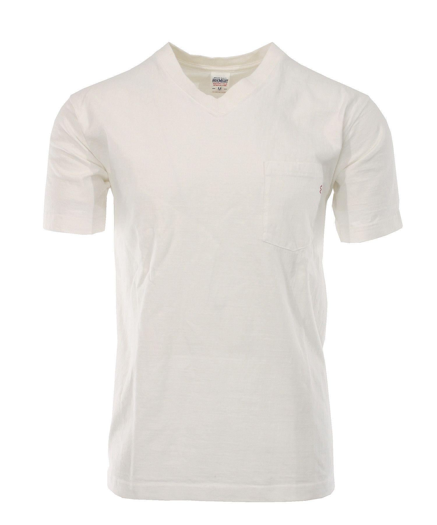 a5249da104 Iron Heart Plain V-Neck Loopwheeled Pocket T-Shirt aus 7