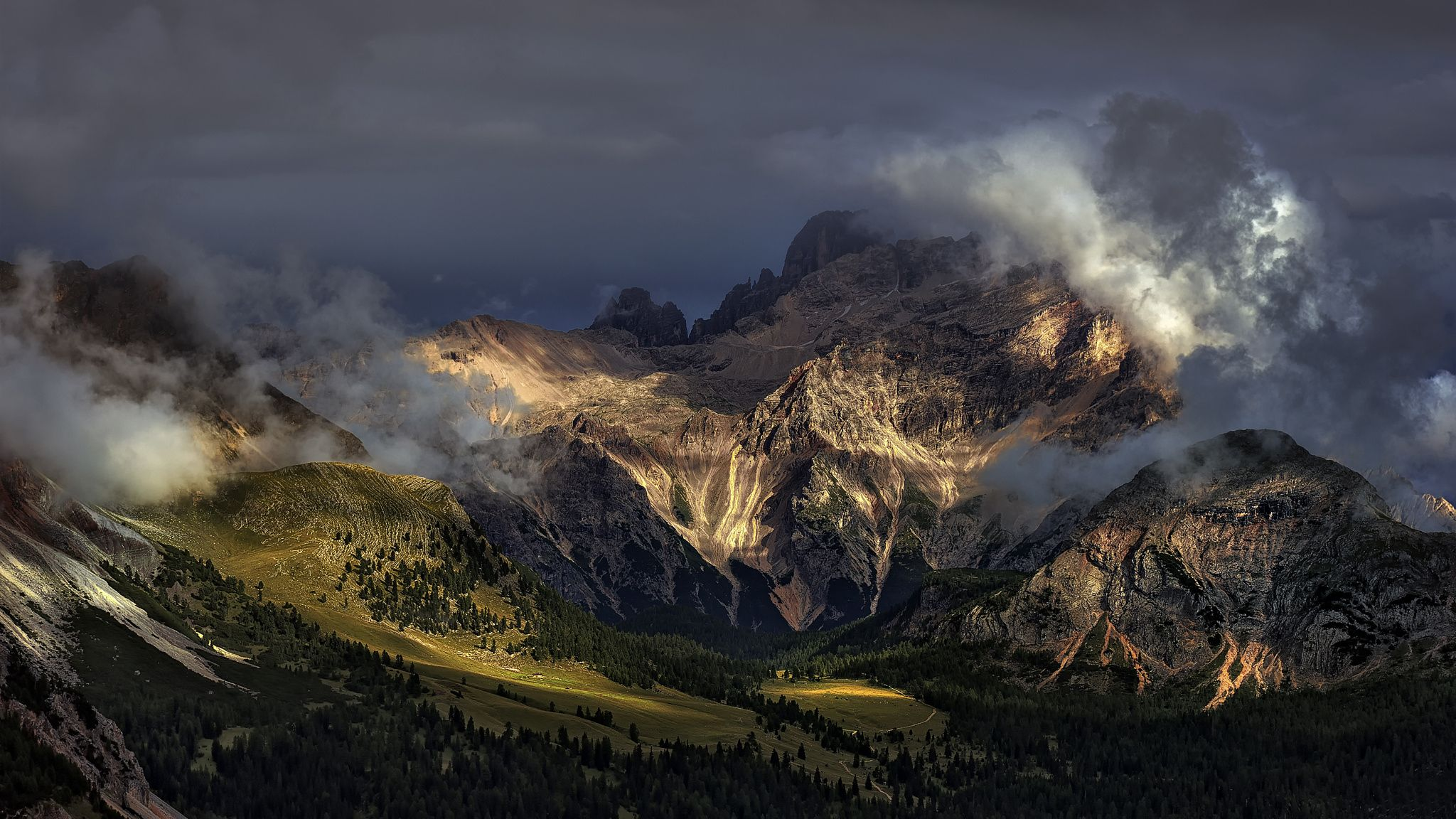 Between light and rocks dragon guards the valley by Paolo Maccagnan