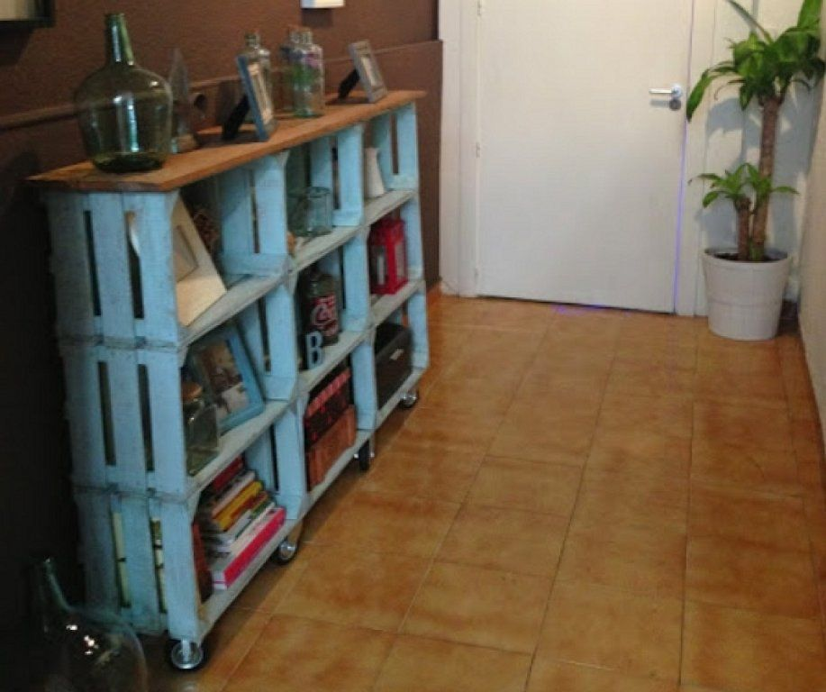 C mo hacer estanter as con cajas de fruta bricolaje - Estanterias con cajas ...