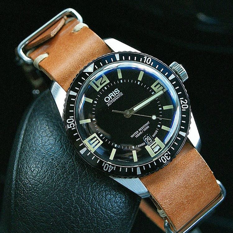so this happened today the oris 65 diver on our natural vintage