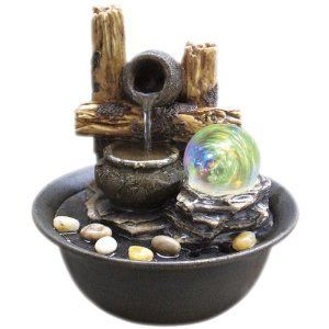 8.25 Inch H Table Fountain With Light HP,http://www.