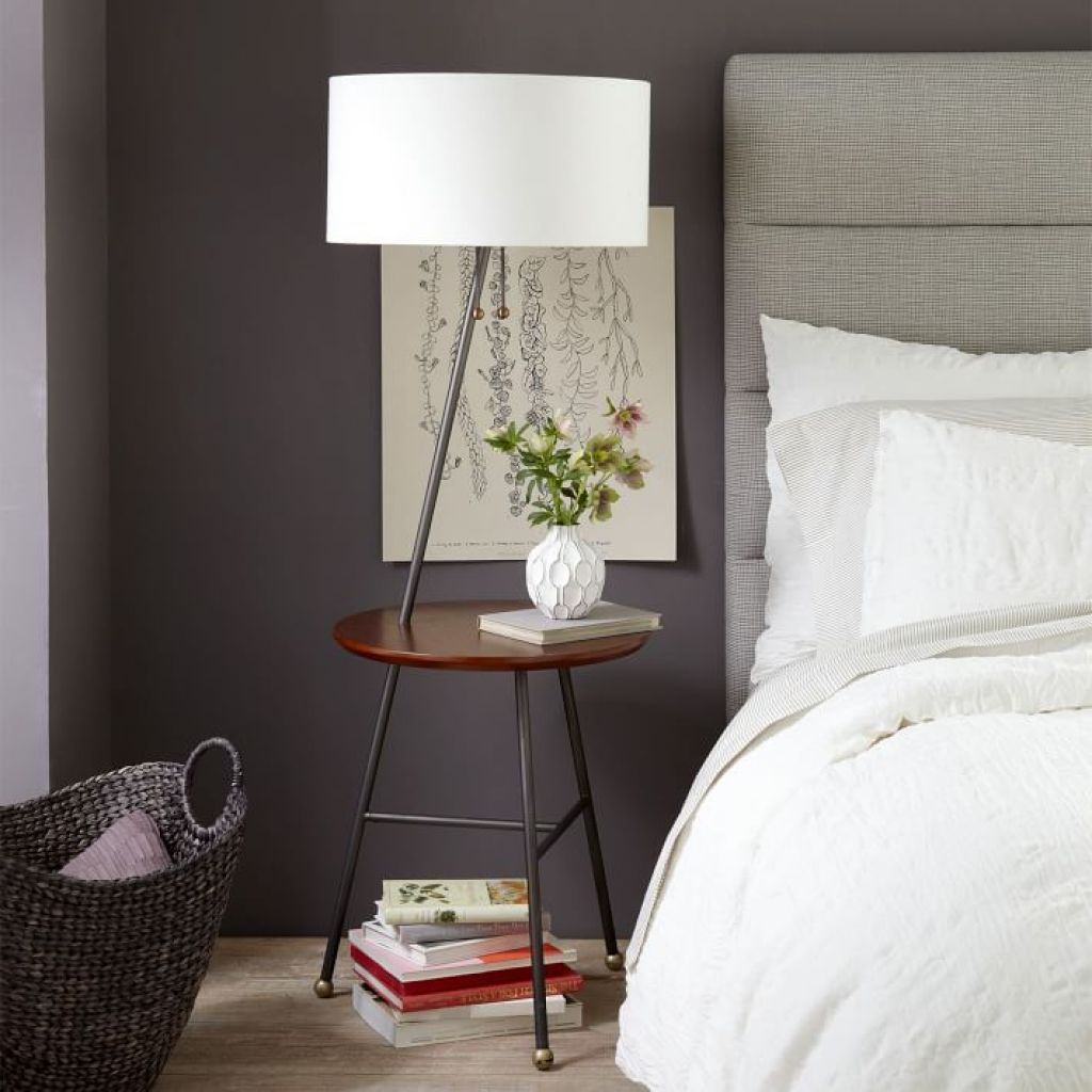 Using A Floor Lamp With Table Floor Lamp Table Floor Lamp Bedroom Floor Lamps Living Room