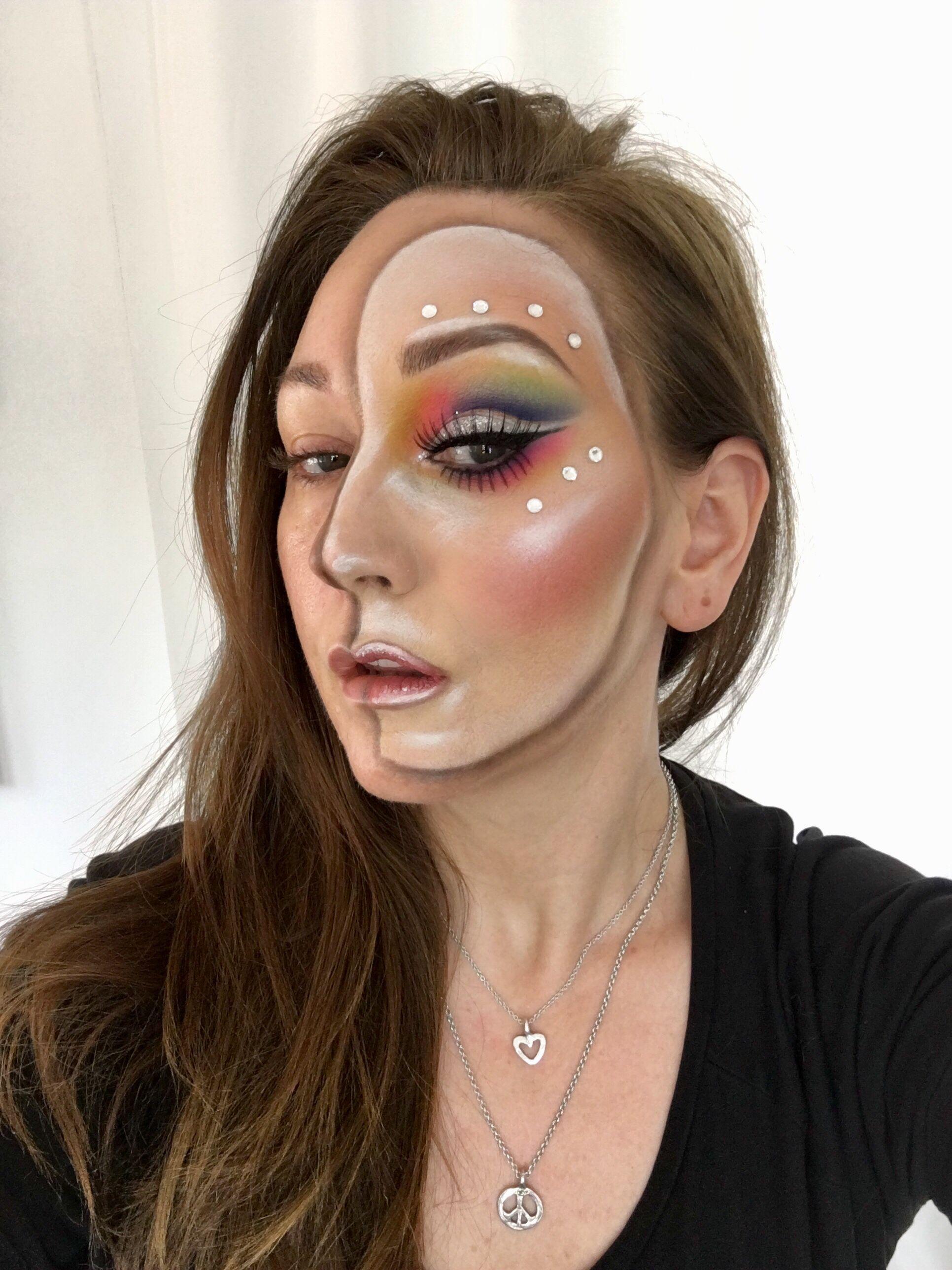 Phantom makeup mask by Tina Brocklebank Makeup artist