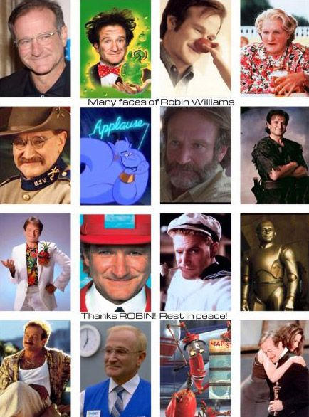 The Many Faces Of Robin Williams Robin Williams Movies Robin Williams Robin Williams Quotes