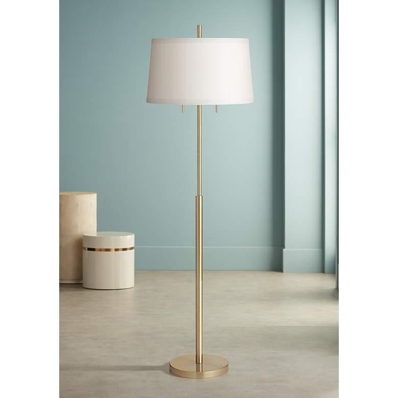 Possini Euro Nayla Brass Finish Steel Floor Lamp 66e53 Lamps