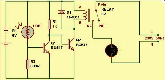 Light Dependent Resistor Circuit Diagram with Applications ...