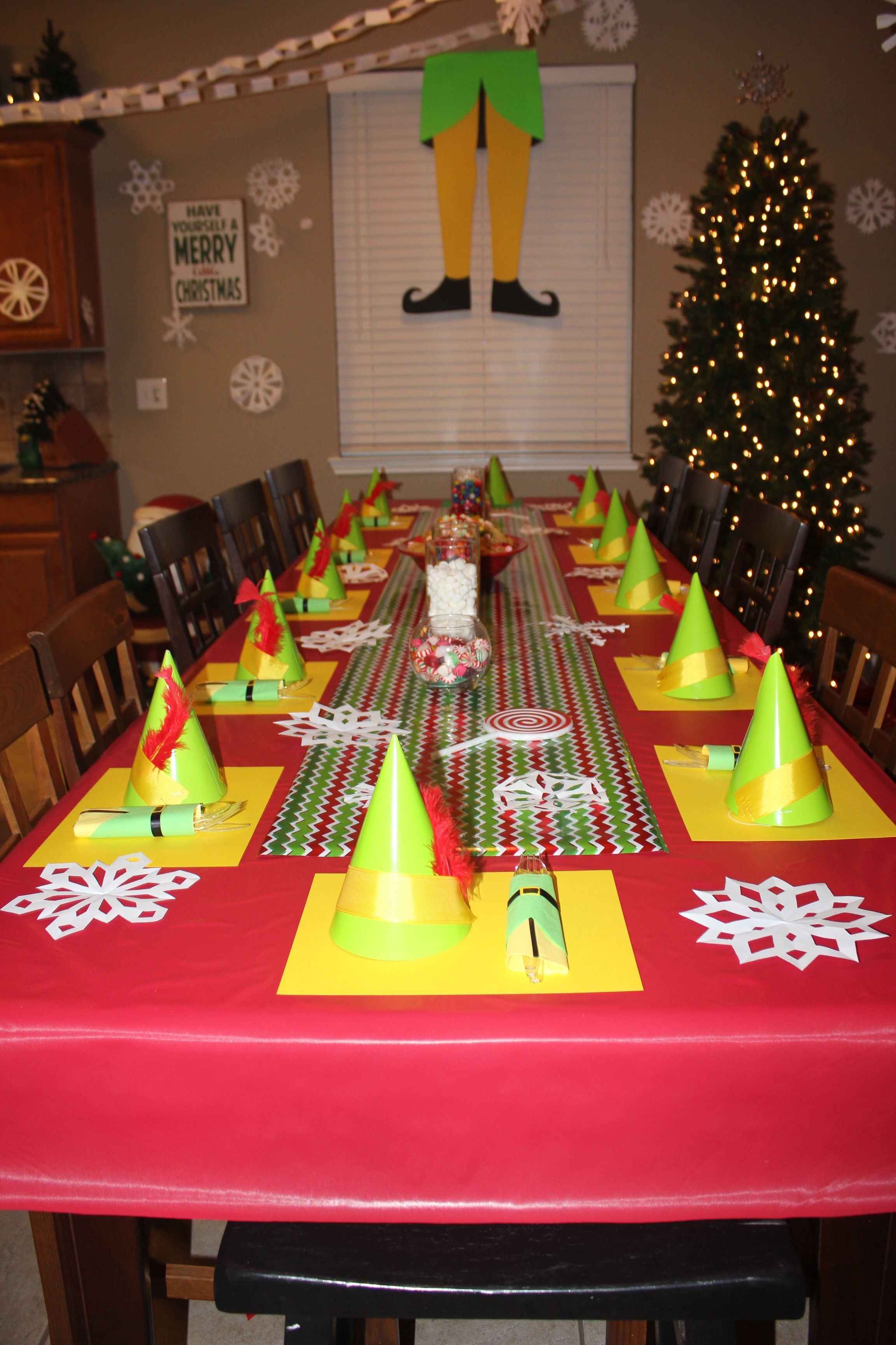Buddy The Elf Christmas Party theme. Handmade elf hats for ...