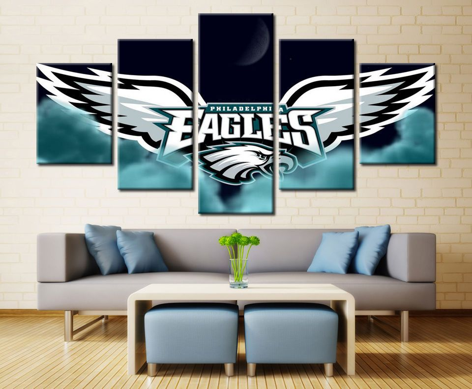 Philadelphia Eagles Modern 5 Pcs Painting Canvas Wall Art Poster