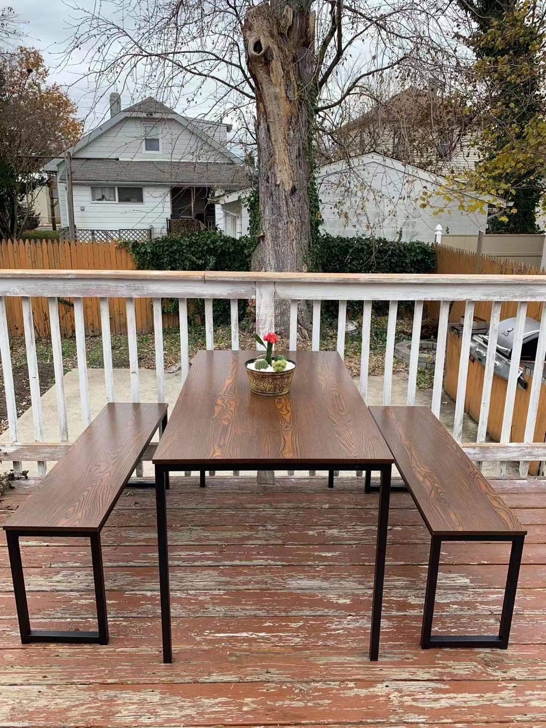 Lentia Dining Table Set With Two Benches 3 Piece Read More Reviews Of The Product By Visiting The Link O In 2020 Dining Table Setting Dining Table Table Settings