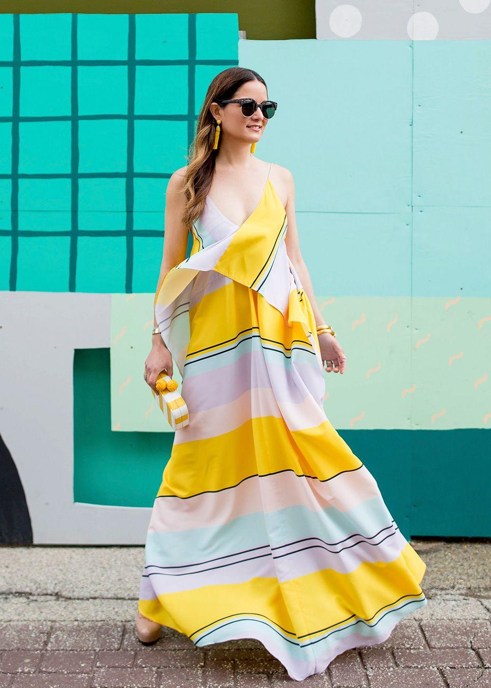 Yellow Stripe Maxi Dress Maxi Dress Striped Maxi Dresses Maxi Gown Dress [ 1400 x 1000 Pixel ]