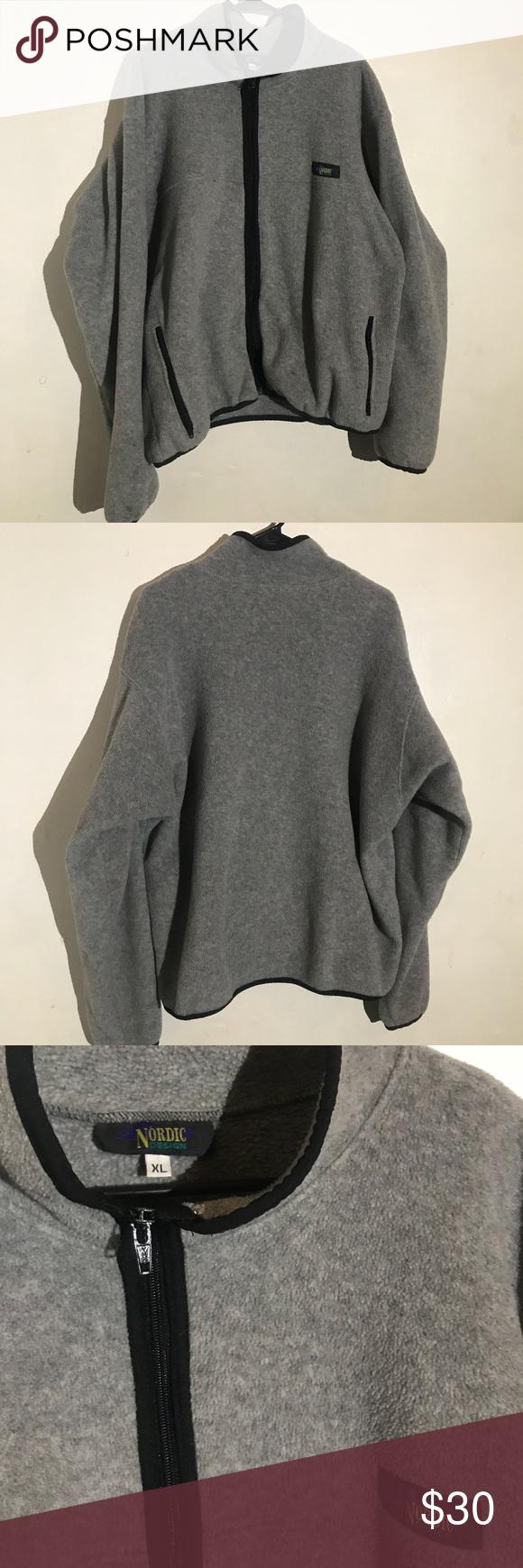 Vintage nordic design fleece jacket xl my posh picks pinterest
