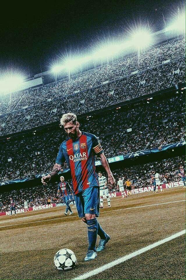 Non sono grande fan di Messi e del Barcellona.. Ma sta foto è meravigliosa
