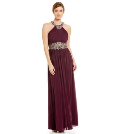 Shop for Cachet Embroidered Halter Sleeveless Gown at Dillards.com. Visit Dillards.com to find clothing, accessories, shoes, cosmetics & more. The Style of Your Life.