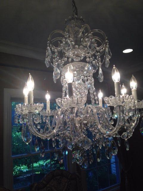 Schonbek crystal chandelier 6812 9 arm in home garden lamps lighting · ceiling fan