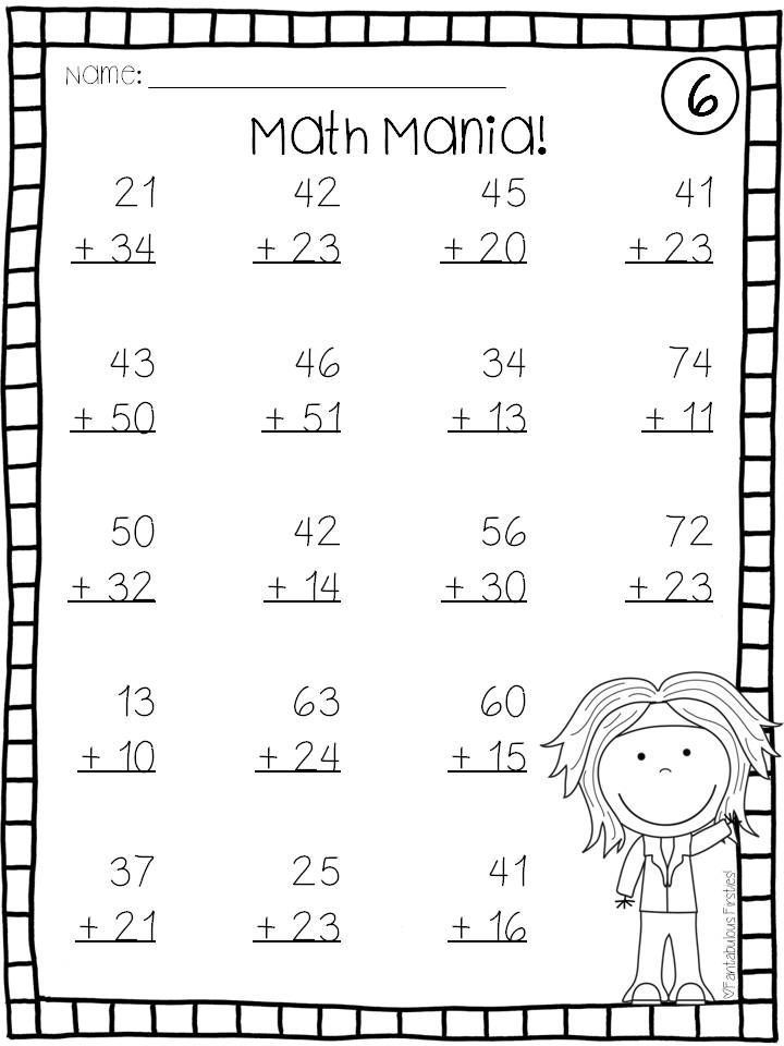 100 Subtraction Facts To 20 Teaching Squared Math Fact Worksheets Timed Math Drills 1st Grade Math Worksheets