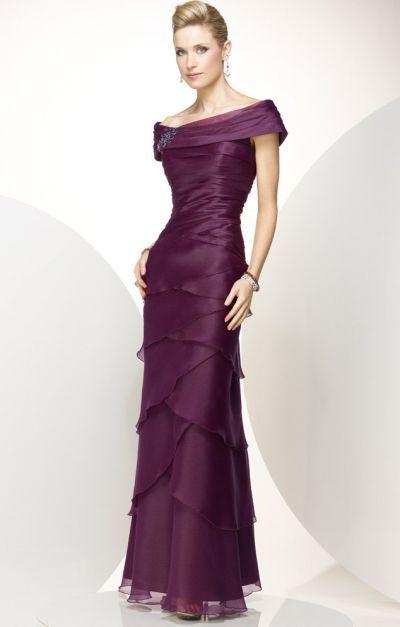 Alyce Black Label 5345 Organza Off the Shoulder Formal Dress image ...