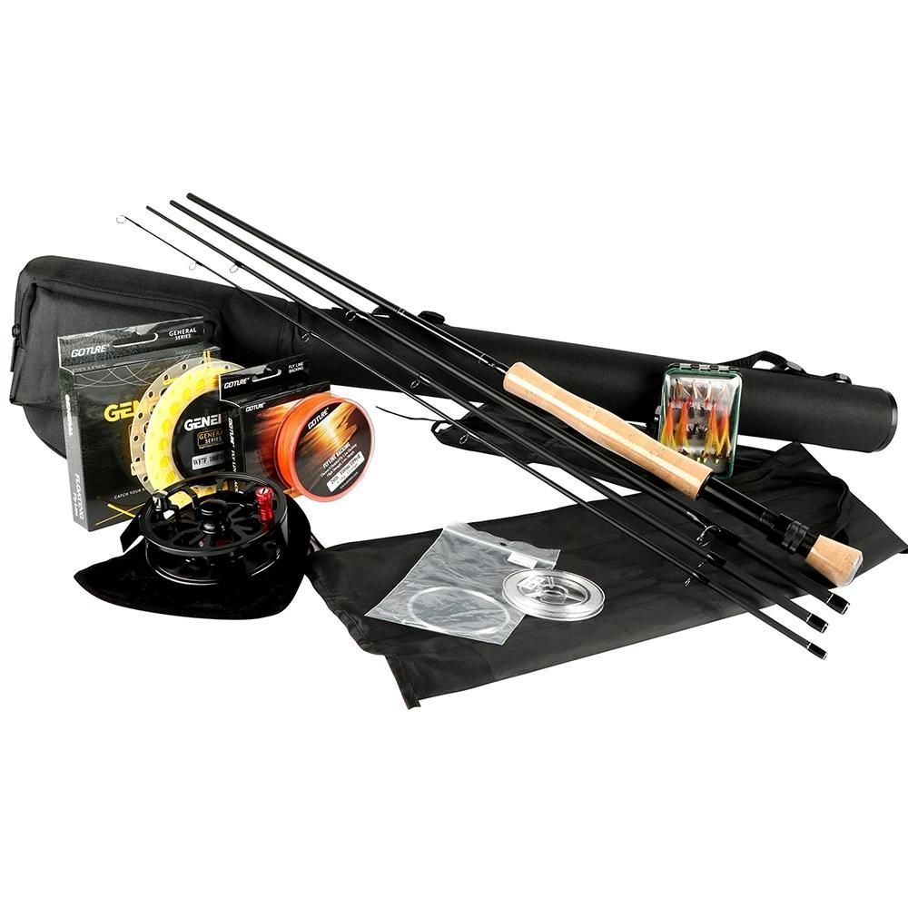 Fly Fishing Kits 2 7m Rods 5 6 7 8 Cnc Machined Aluminum Fly Reel With Fishing Lures And Lines Rod Comb In 2020 Fly Fishing Rods Fly Fishing Kit Fishing Rods And Reels
