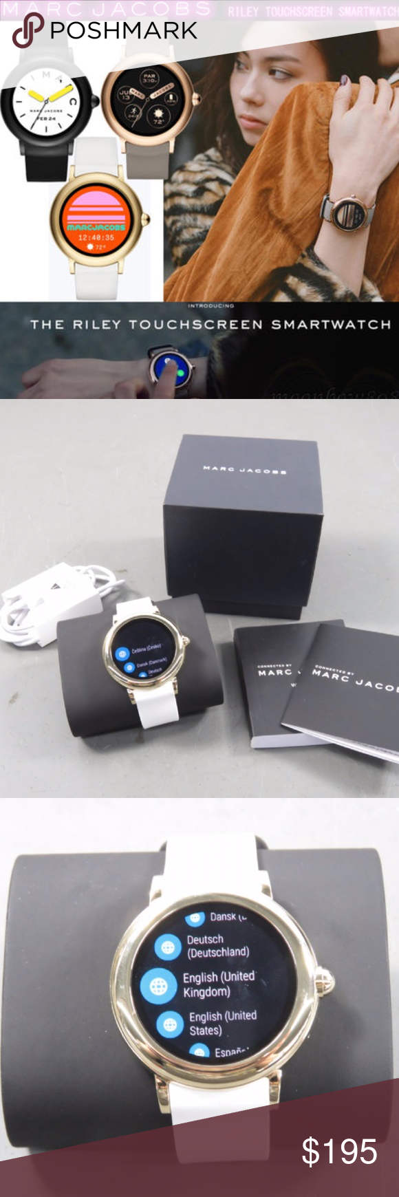 Marc Jacobs Riley Touchscreen Smartwatch Faces Band Smart Watch Jacobs