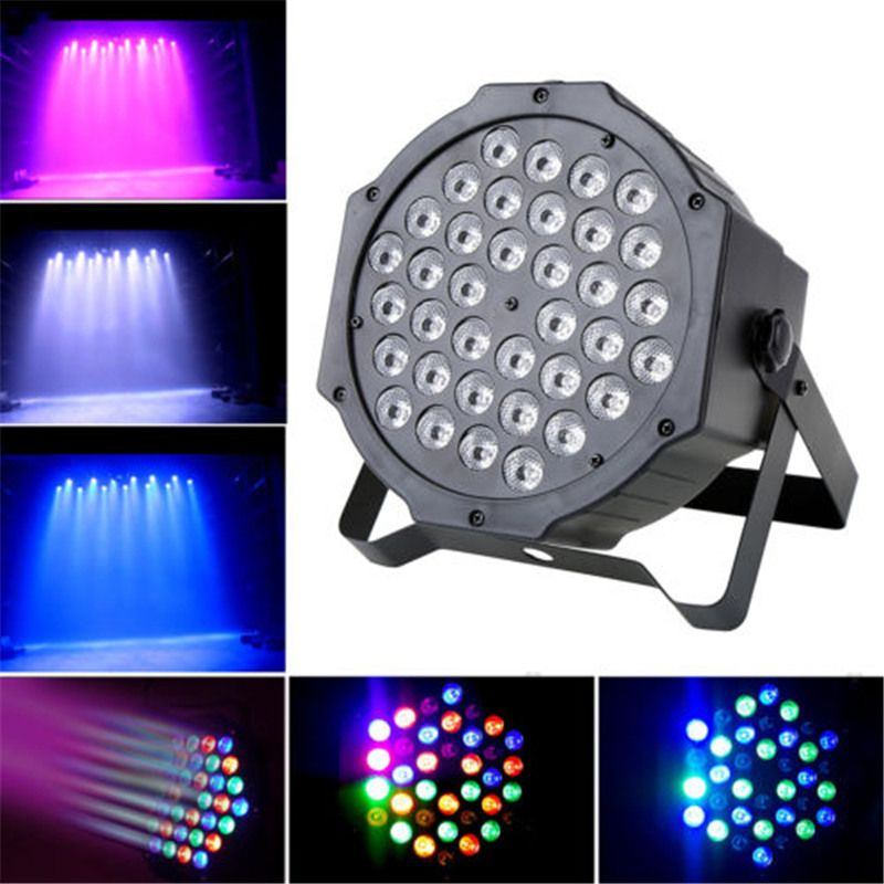 Hot koop par kan 36 rgb led stage light disco dj bar effect up ...