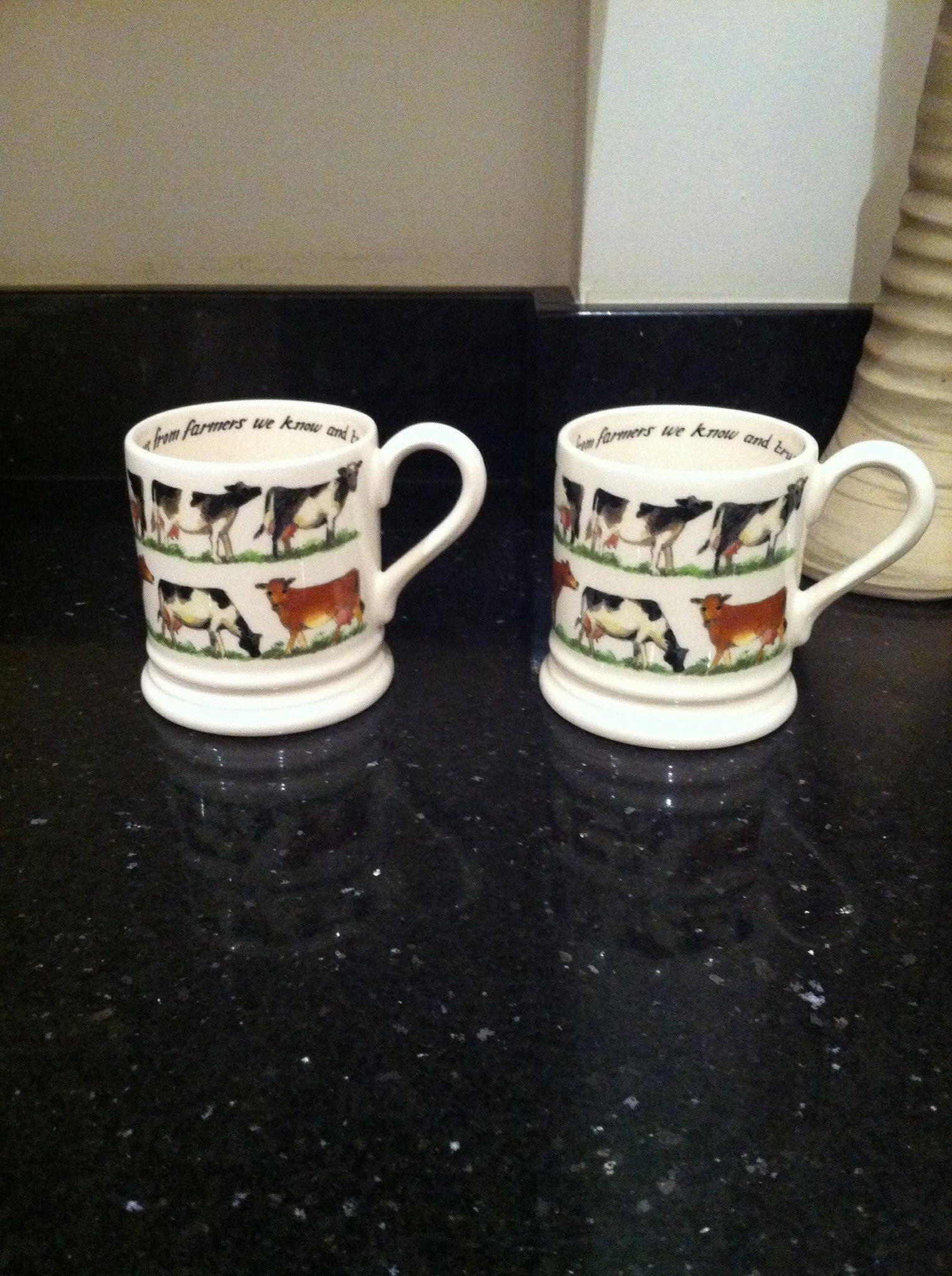 Emma Bridgewater Waitrose Milk 0.5 Pint Mugs