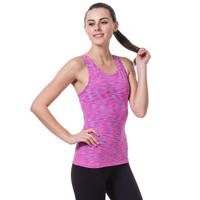 Lady Womens Yoga Fitness Gym Crop Top Running Quick-Dry Workout Athletic T-Shirt