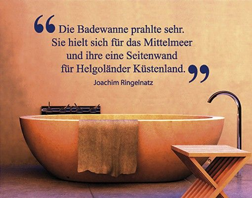 wandtattoo zitate wandzitate no sf399 badewanne bad ideen pinterest baden badezimmer. Black Bedroom Furniture Sets. Home Design Ideas