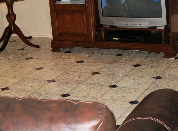 Faux Marble Flooring | Marble floor, Marbles and Concrete