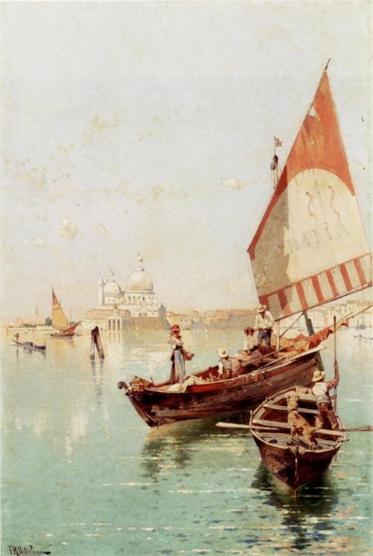 Rio Santa Barnaba, Venice - Franz Richard Unterberger   Cuadros ...