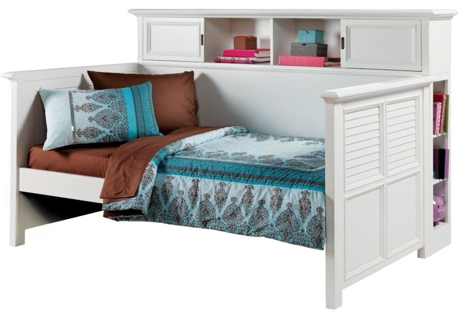 Belmar White 4 Pc Twin Bookcase Daybed In 2019 Products Daybed