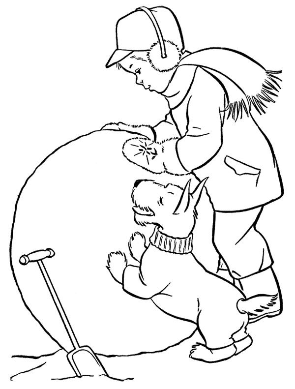 Big Snowball Coloring Page Coloring Pages Coloring Pages To