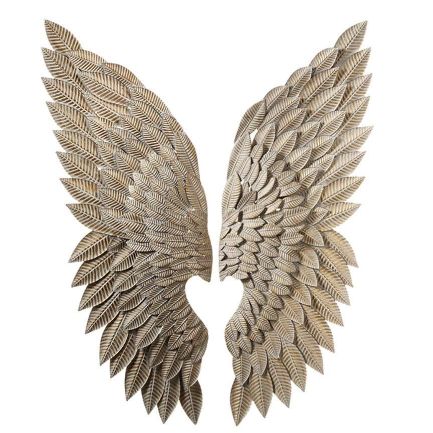 Whitewash Gold Angel Wings Set 2 In 2020 Angel Wings Wall Decor Angel Wings Wall Angel Wings Wall Art