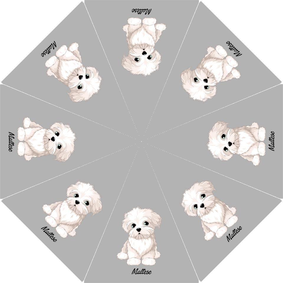 Details about MALTESE Gray Folding UMBRELLA For Dog Lover