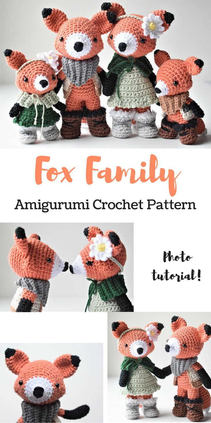 Fox Family Crochet Pattern, photo tutorial, great addition to my ...
