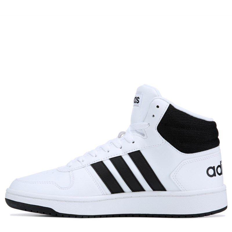 75a06e3cd952 Adidas Men s VS Hoops 2.0 High Top Sneakers (White Black)
