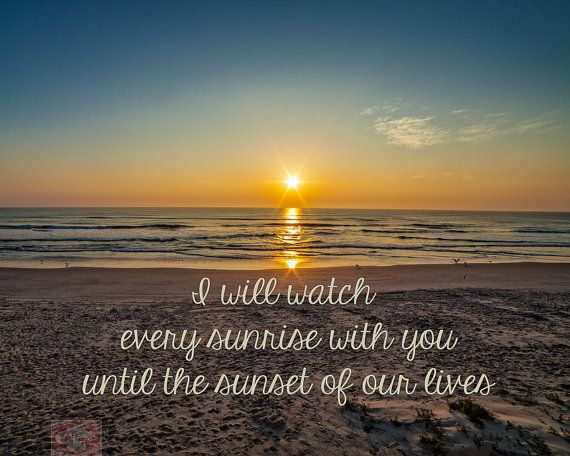 Nature Sunrays At Sunrise Sunset On The Beach Love Quote