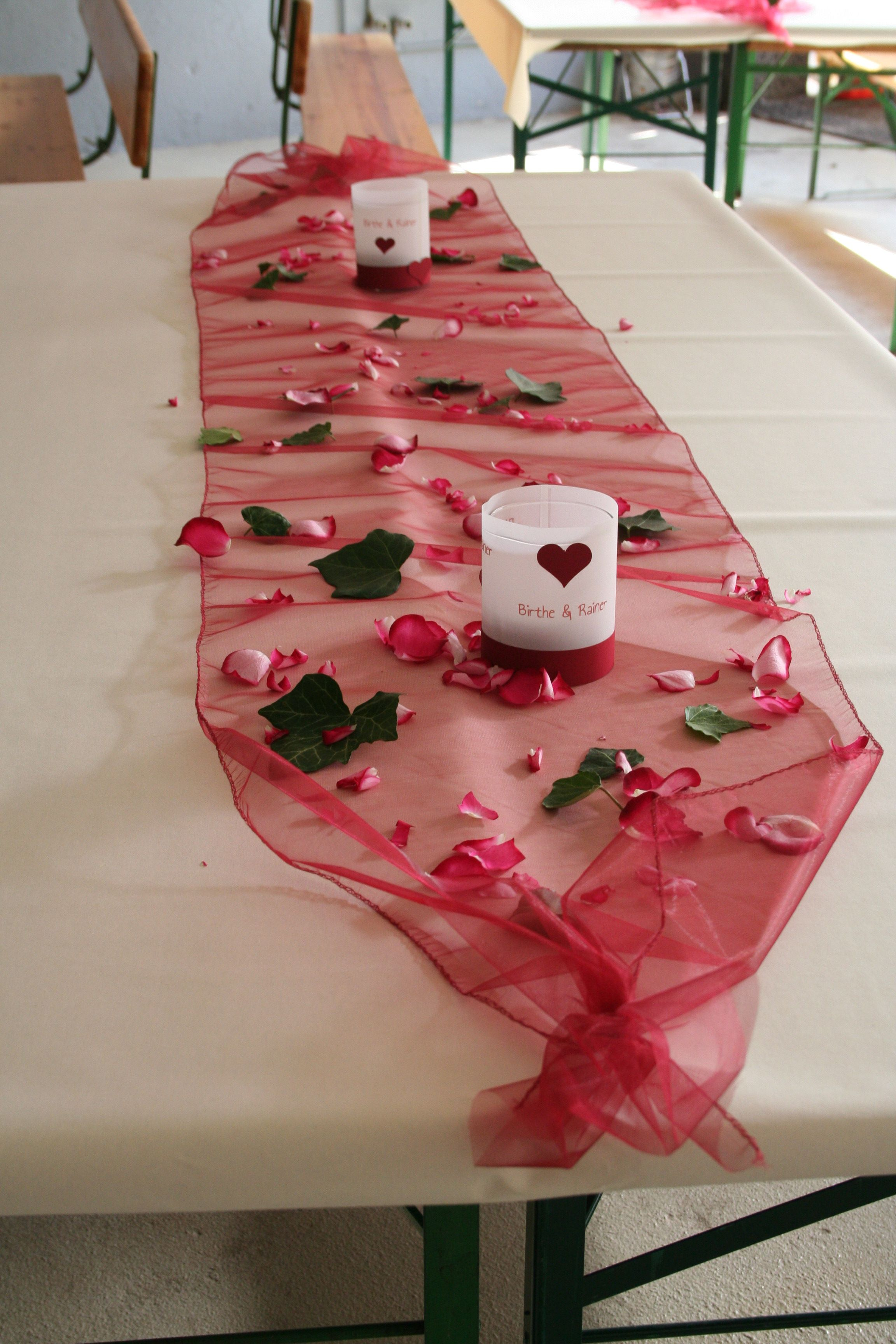 Tischdeko Polterabend Unsere Hochzeit Basteleien