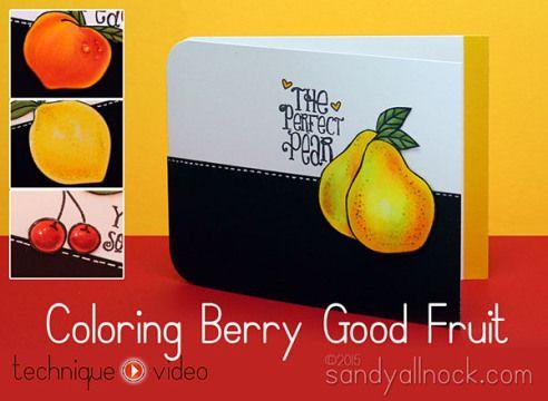 Sandy Allnock - Realistic Copic Coloring Berry Good Fruit
